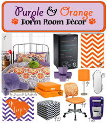 Purple And Orange Color Scheme Purple U0026 Orange Clemson Dorm Room Decor Brass U0026 Whatnots