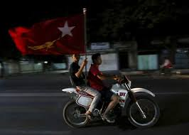 Flag Of Burma Myanmar Burma U0027s Aung San Suu Kyi Eyes Historic Nld Victory Time