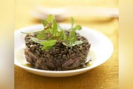 cuisine lentilles vertes agneau confit et lentilles vertes à la menthe