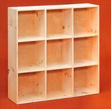Bookcase Pine Amish Unfinished Pine 9 Hole Bookcase Shelf Storage Cuddy Cube