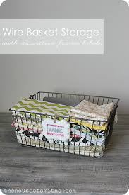 Shabby Chic Wire Baskets by The House Of Smiths Wire Basket Storage With Decorative Frame