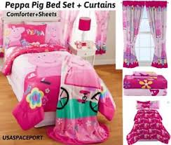 Peppa Pig Room Decor Peppa Pig Twin Full Comforter Sheets Curtains Set Bed In A Bag