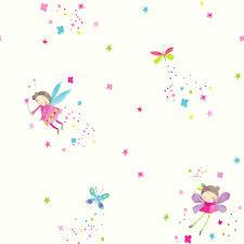 Girls Bedroom Horse Decor Girls Glitter Effect Wallpaper Fairies Hearts Horse Animals Wall