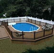 Deck Landscaping Ideas In Ground Swimming Pool Deck Designs Backyard In Ground Pool