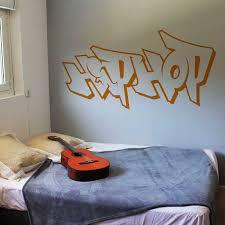 stickers pour chambre ado sticker mural hiphop motif musique pour chambre ado garçon