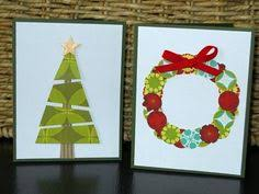 tissue paper collage christmas tree cards kids craft creative