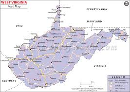 virginia on a map of the usa buy west virginia road map