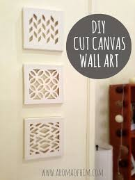 76 brilliant diy wall art ideas for your blank walls cut canvas