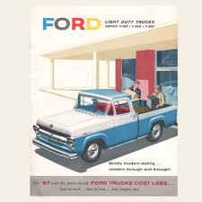 Old Ford Truck Brochures - 1957 ford light duty trucks brochure u2013 oldcuts