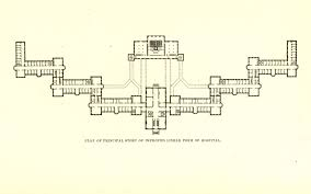 plan of the first story of the state hospital for the insane