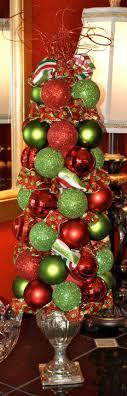ornaments ribbon topiary ideas