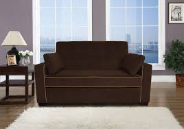Pull Out Loveseat Floor Sample Jacksonville Loveseat Sleeper Java By Lifestyle Solutions