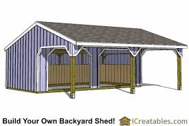 How To Build A Wood Shed Plans by Run In Shed Plans Building Your Own Horse Barn Icreatables