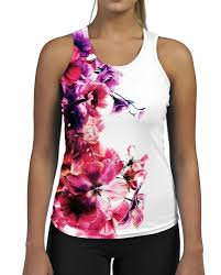 half seed flower womens gym tank top vest ladies fitness workout