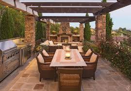Outdoor Tile Patio Craftsman Patio With Outdoor Kitchen U0026 Exterior Stone Floors