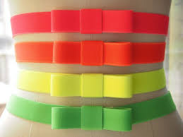 bow belts neon elastic bow belts what i do