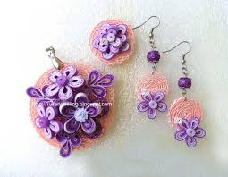 quilling earrings set susan quilling quilled jewellery set