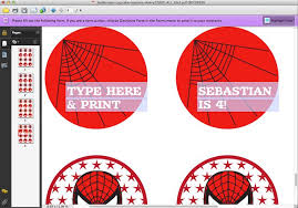 Spider Man Printable Personalized Cupcake Toppers Or Temporary