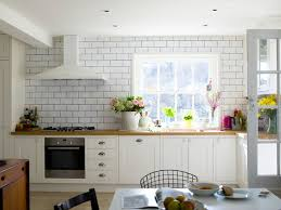 white subway tile kitchen family living south downs sussex