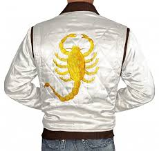 halloween movie shirts amazon com drive jacket white satin mens quilted jacket best