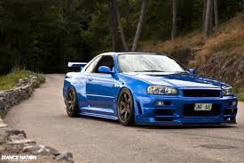 nissan skyline r34 xanavi nissan gtr r34 blue car sunset poster nissan gtr r34 and products
