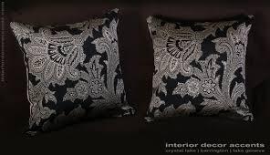 Home Decorative Accents Schumacher Silk Paisley Lee Jofa Velvet Elegant Pillows