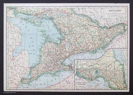 Map Ontario Ca Canadian Provinces And Territories Vintage Maps