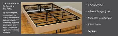 Platform Metal Bed Frame Mattress Foundation Classic Brands Hercules Heavy Duty 14 Inch Platform