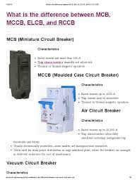 difference between mcb mccb elcb and rccb eep equipment