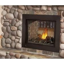 Natural Gas Fireplaces Direct Vent by Napoleon Ascent Clear Face See Thru Logs Direct Vent Natural Gas