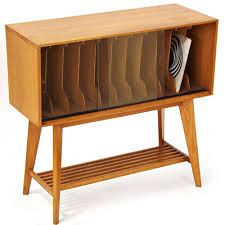 Lp Record Cabinet Furniture 1950s Record Album Storage Unit In Beautiful Blond Wood Mid