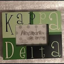 sorority picture frame alexandra company on poshmark