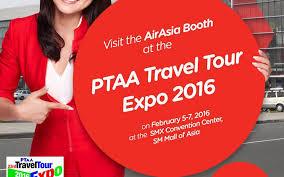 airasia travel fair airasia lowest fares at ptaa travel expo 2016