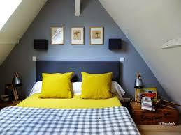 chambre jaune et bleu deco salle de bain jaune et gris