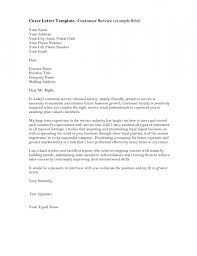 cover letter examples for customer service resume template example