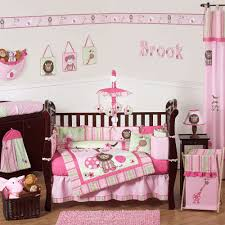 fascinating pink monkey crib bedding sets awesome home design