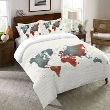 Travel Duvet Cover Cities Maps Travel