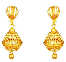 gold earrings jhumka design 15 gold earrings designs in 2 grams for 2018 india styles