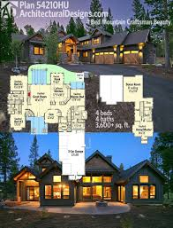 mountain architecture floor plans architectural designs 4 bed mountain craftsman house plan 54210hu