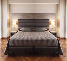 Double Bad Design Furniture Hotel Room Headboard For Double Beds Contemporary Fabric