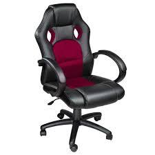 fauteuil de bureau chaise de bureau racing sport noir bordeaux rembourrage épais
