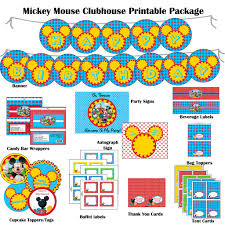 Mickey Mouse Invitation Cards Printable Mouse Clubhouse Hybrid Printable Birthday Package Dessert Bar