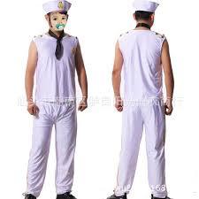 Navy Halloween Costume 2017 Halloween Costumes Male Models White Navy Sailor Suit Cosplay