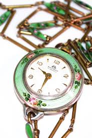 vintage necklace watch pendant images Rare 17 jewels vintage enamel bucherer watch pendant necklace jpg