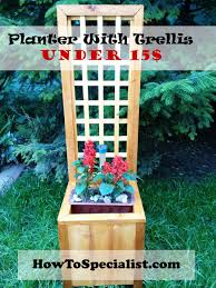 how to build a planter with trellis planter box plans