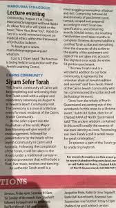 in the press cairns jewish community and jewish north queensland