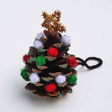 6 toddler friendly ornaments to make pine cone
