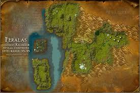 map quests feralas map with locations npcs and quests of warcraft