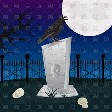 halloween background crow halloween background with big moon trees and crow vector image