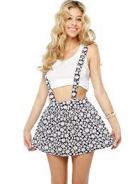 daisy floral overall skirts shop at papaya clothing